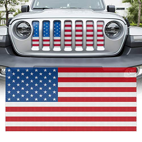 Flag Grille - Yoursme Front Grille Grid Grill Screen Insert American Flag Design for Jeep wrangler JL 2018 2019