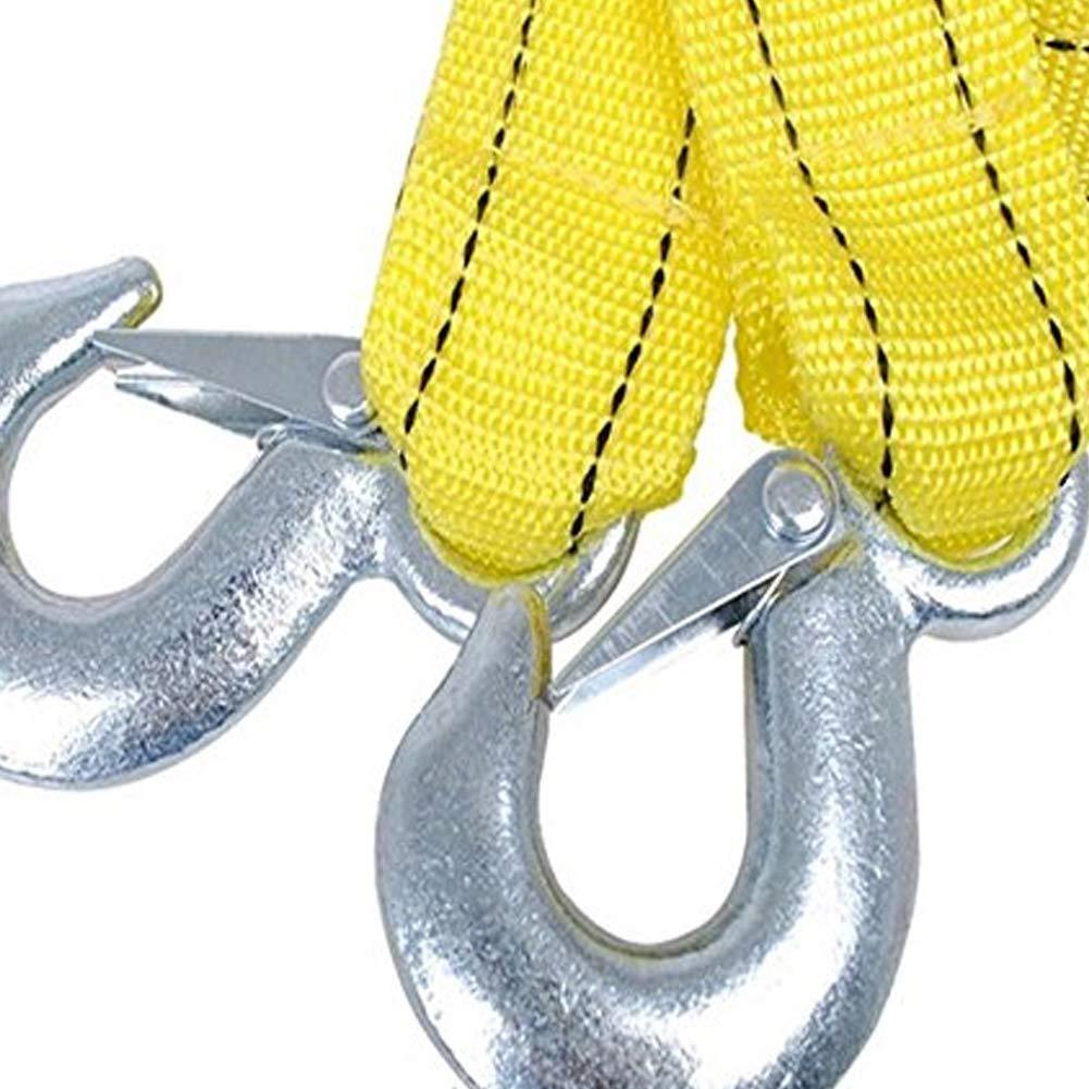 Traction Corde avec Hookdurable Heavy Duty de remorquage Corde en nylon restauration double couche /épaissir Sangle de remorquage