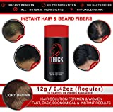 LOOK THICK Instant Hair and Beard Fibers (12, Light Brown)