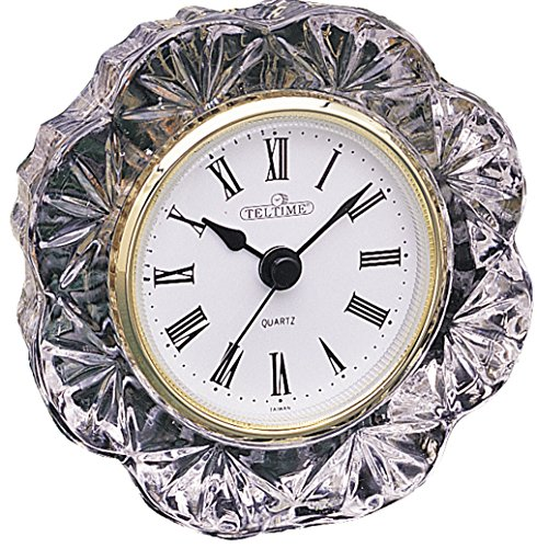 Office Desk Table Lead Crystal Clock (4