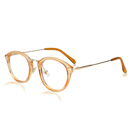 cc4eaf86c053 Image Unavailable. Image not available for. Color: ROYAL GIRL Small Round Glasses  Women Metal Frame Clear Lens Vintage Eyeglasses ...