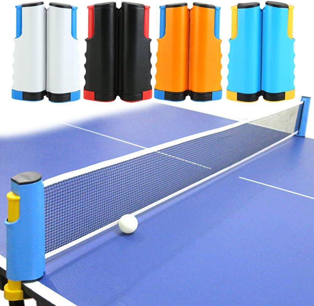 FAFAFA Tabla Portable Red de Tenis en Cualquier Lugar retráctil de Ping-Pong Post Net Rack para Cualquier Tabla Gimnasio para la casa Ejercicio Equipamientos 4 Colores