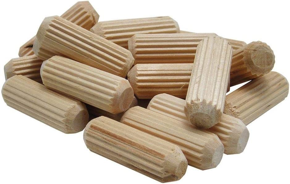 wolfcraft 2960405 Straight Fluted Wood Dowel Pins, 1/4in., 36 Pieces