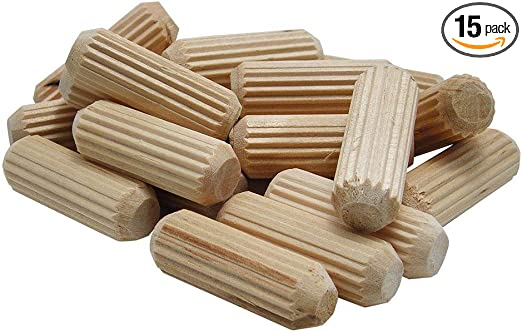 wolfcraft 2964405 Straight Fluted Wood Dowel Pins 3//8in. 27 Pieces