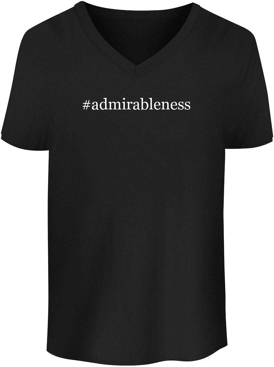 #admirableness - Men's Soft & Comfortable Hashtag V-Neck T-Shirt