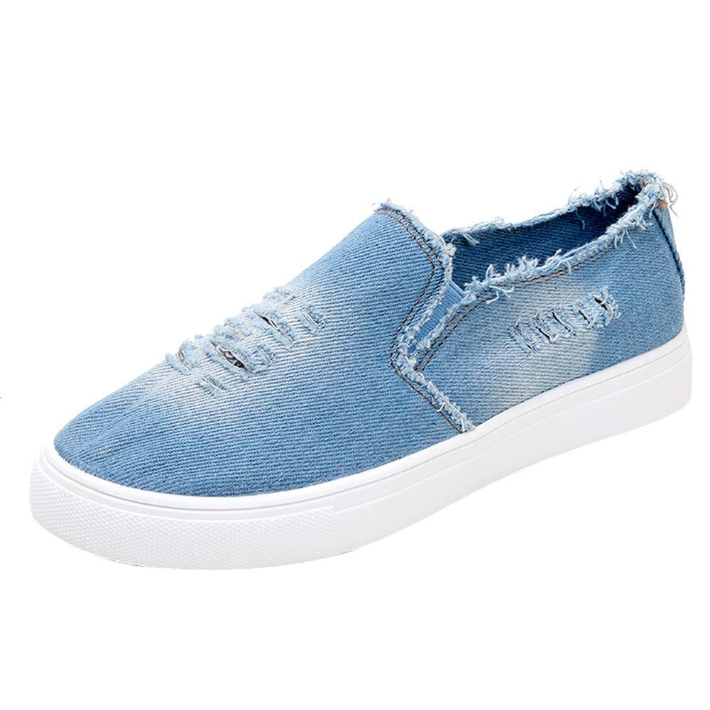 704c7d47aa333 Faionny Women Shoes Flat Denim Shoes Students Sneakers Christmas Flats  Slip-On Ankle Boots Single Shoes