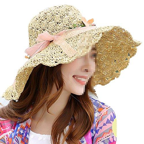 Humanity .Attack Hat Tide Handmade Hat Shade Straw Travel Beach Fisherman Hat,Beige,M (56-58cm)