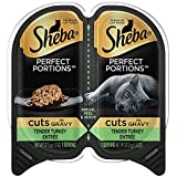 Sheba Wet Food Cuts in Gravy Tender Turkey Entrée Wet Cat Food (24 Twin Packs)