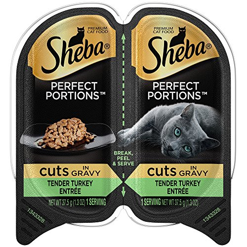- Sheba Wet Food Cuts in Gravy Tender Turkey Entrée Wet Cat Food (24 Twin Packs)