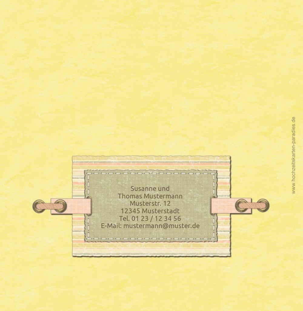 Kartenparadies Kartenparadies Kartenparadies Danksagung für Hochzeitsgeschenke Hochzeit Dankeskarte Bund für's Leben, hochwertige Danksagungskarte Hochzeitsglückwünsche inklusive Umschläge   20 Karten - (Format  145x145 mm) Farbe  OckerBeige B01N4QK9UL | Haltb d44c7d