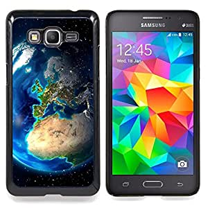 "Qstar Arte & diseño plástico duro Fundas Cover Cubre Hard Case Cover para Samsung Galaxy Grand Prime G530H / DS (Tierra Europa Ver Continentes Planet Space"")"