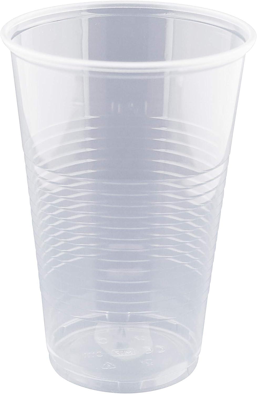 1000 Trinkbecher 0,5 l Bierbecher Becher klar Ø 9,5 cm 13,7 cm Schaumrand PP