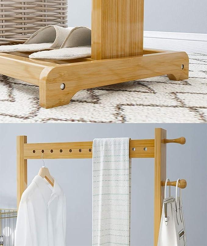 Amazon.com: Y.H.Valuable - Perchero de bambú para dormitorio ...