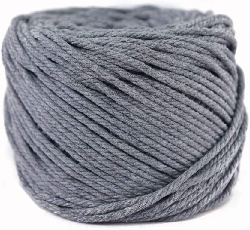 4mm Natural Cotton Macrame Cord Rope for DIY Crafts About 109 Yards 4mm x 100m