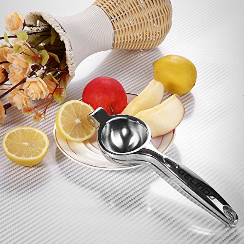 Gelindo Single Press Lemon Squeezer - Heavy Duty - Easy To Use - Large Bowl, Silver by Gelindo (Image #5)