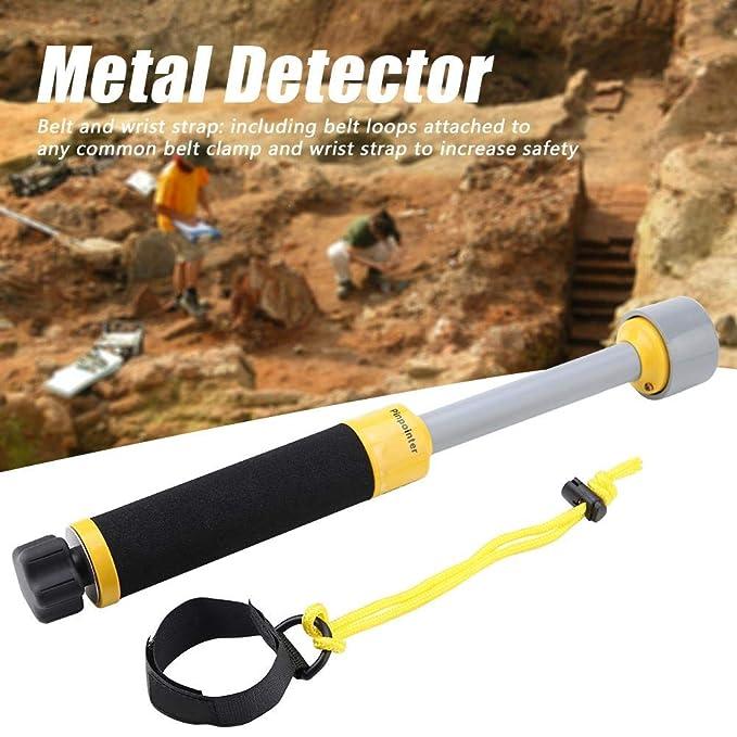 Asixx Detector de Metales, MD740 Pulso Inductivo 30m Impermeable Pinpointer de Mano Detector de Metales con Indicador de Batería Baja para Inspección de ...