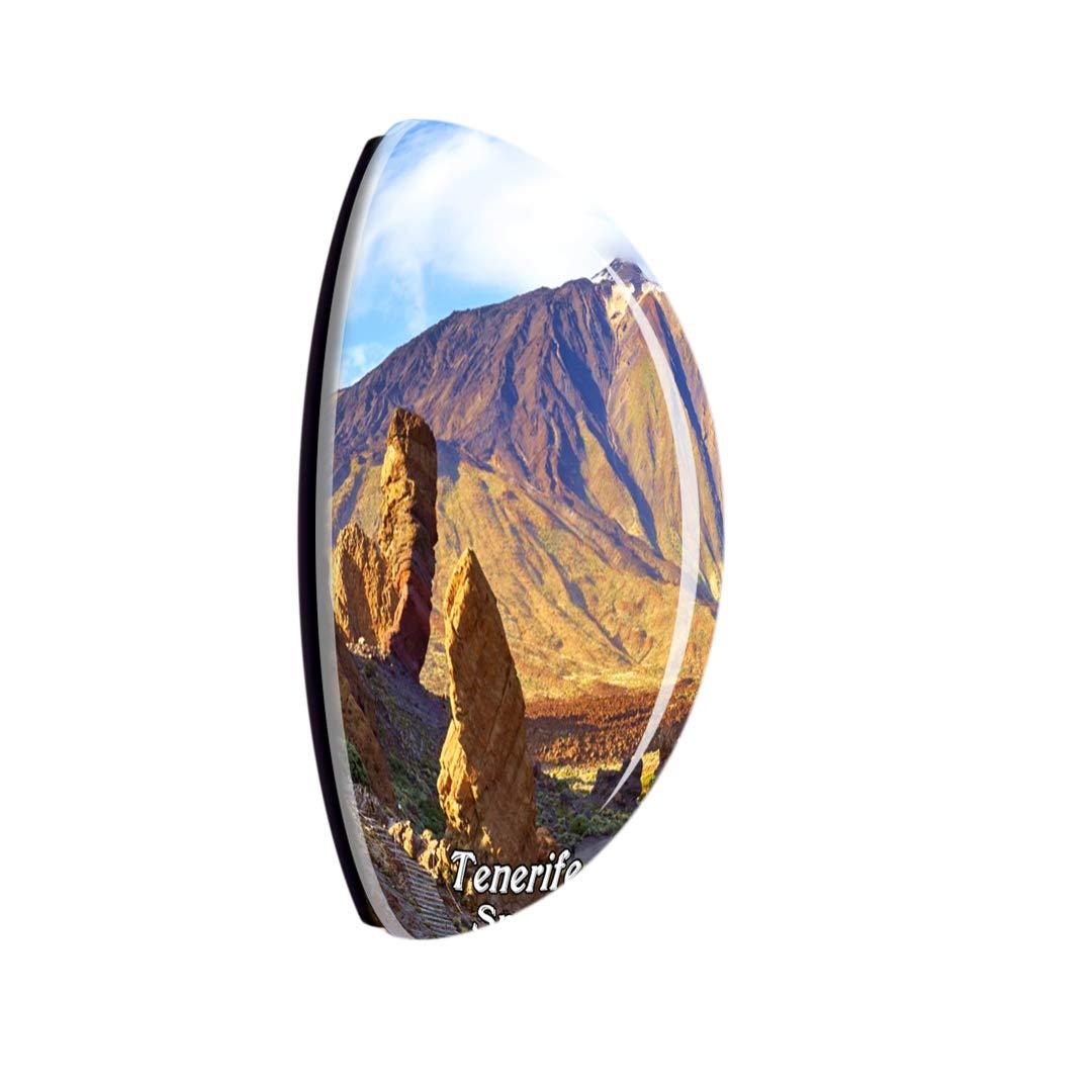 Weekino España Teide Volcano Tenerife Imán de Nevera 3D de Cristal ...