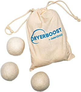 Dryer Boost by OdorCrush | Reusable and Long-Lasting New Zealand Wool Dryer Balls (6 Dryer Balls)