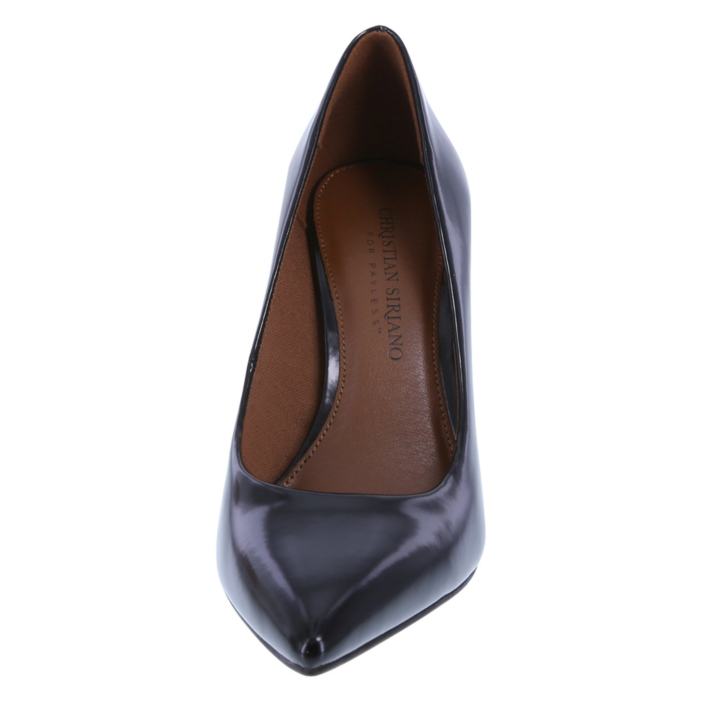 Christian Siriano for Payless Women's Smooth Black Women's Habit Pointed Pump 8.5 Regular by Christian Siriano for Payless (Image #4)