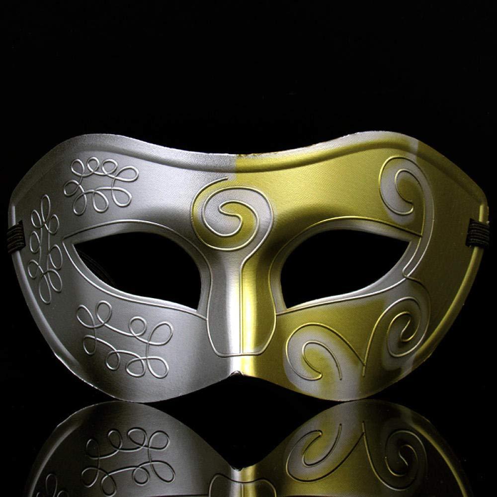 QTJKH Maschera di Halloweenmaschera da Esibizione Annuale Maschere Maschili E Femminili Mezza Faccia Venice Fun Fun Mask @C
