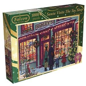 Falcon De Luxe Puzzle Da 1000 Pezzi Santa Claus Al Negozio Di Giocattoli