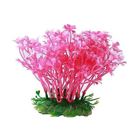 L_shop - Adornos de Flores para Acuario, Plantas Artificiales, decoración bajo el Agua,