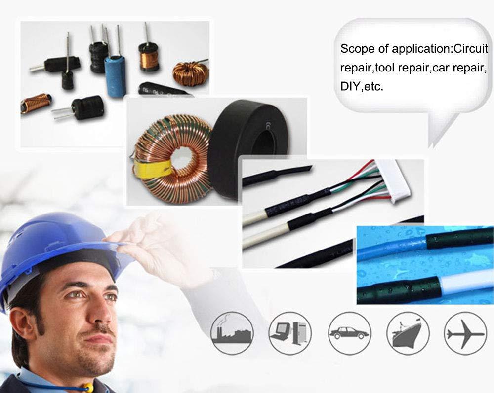 670 pcs Heat Shrink Tubing 2:1,Insulation Tube Heat Shrink Wrap Cable Sleeve 6 Colors 12 Sizes