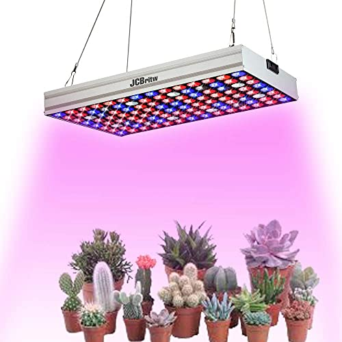 JCBritw LED Grow Light Daisy Chain 7 Band Full Spectrum 100W Plant Growing Lamp Bulb Hydroponic Hanging Light for Indoor Plants Greenhouse Seedings,Veg and Flower