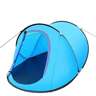 ZHANGP Tende da campeggio all'aperto Immediato conto della barca Multiplayer Tenda automatica Camping Trap Conto Coppia doppia Forniture da campeggio , Blue LUYAN