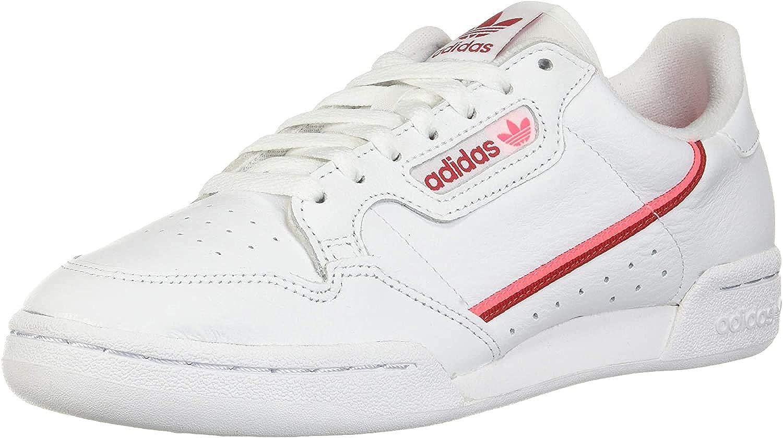 adidas Originals Men's Continental 80 Ballistic Shoes Footwear White/Scarlet/Flash Red