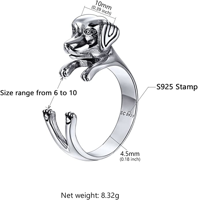 925 Sterling Silver Fox Opened Rings For Bridesmaids Jewelry Party Gift Solid Silver Ring ALQ-23J4960