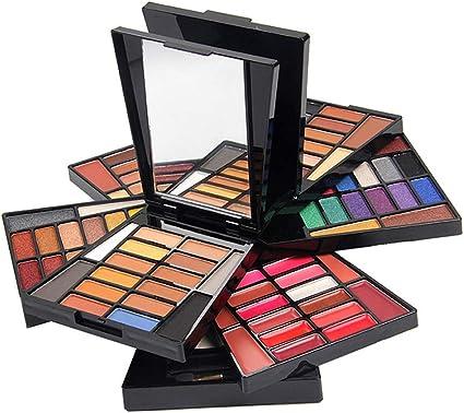 JasCherry Paleta de Sombras de Ojos 104 Colores de Estuche de Maquillaje Cosmético - Incluye Corrector Camuflaje y Bronzer y Rubor y Polvos Compactos y Brillo Labios: Amazon.es: Belleza