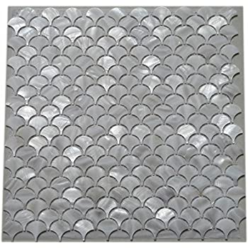 Amazon Com White Fish Scale Shell Mosaic Tile Mother Of