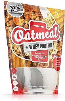 Prozis Oatmeal y Proteína de leche, Palomitas caramelizadas - 400 ...