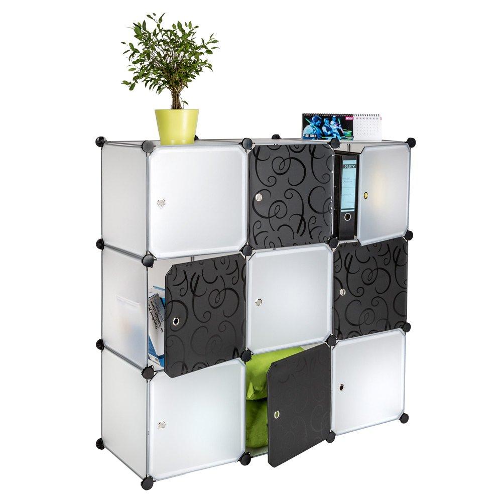 TecTake Estantería de plastico modular armario cuadrados ropero ...