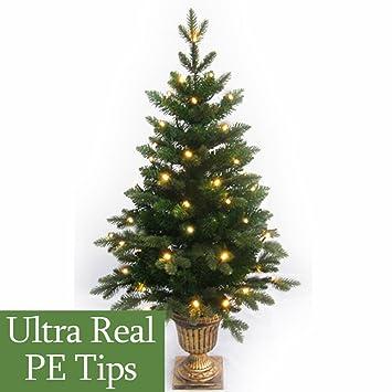 4Ft Pre-Lit Slim Pe Artificial Christmas Tree: Amazon.co.uk ...
