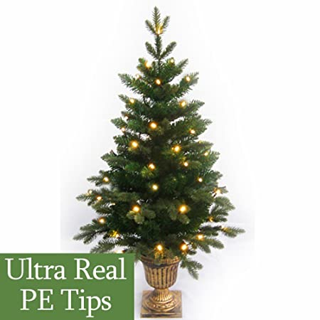 4Ft Pre-Lit Slim Pe Artificial Christmas Tree - 4Ft Pre-Lit Slim Pe Artificial Christmas Tree: Amazon.co.uk: Kitchen