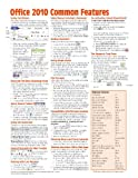 Office 2010 Common Features Quick Reference Guide (Cheat Sheet of Instructions, Tips and Shortcuts - Laminated Card), Beezix Inc., 1936220318