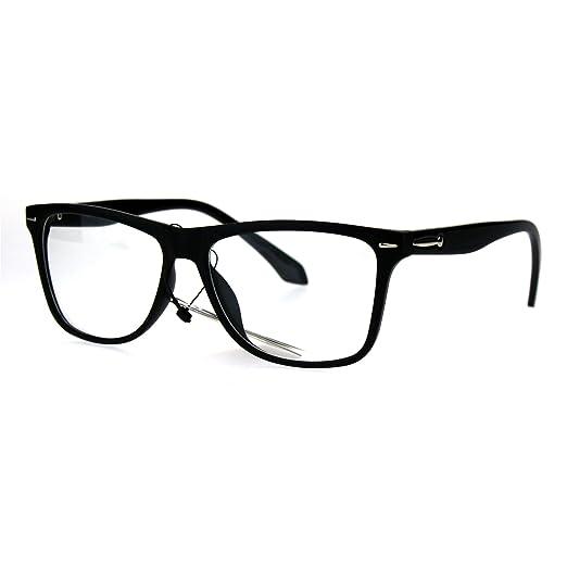 Amazon.com: Mens Rectangular Plastic Horn Rim Clear Lens Eye Glasses ...