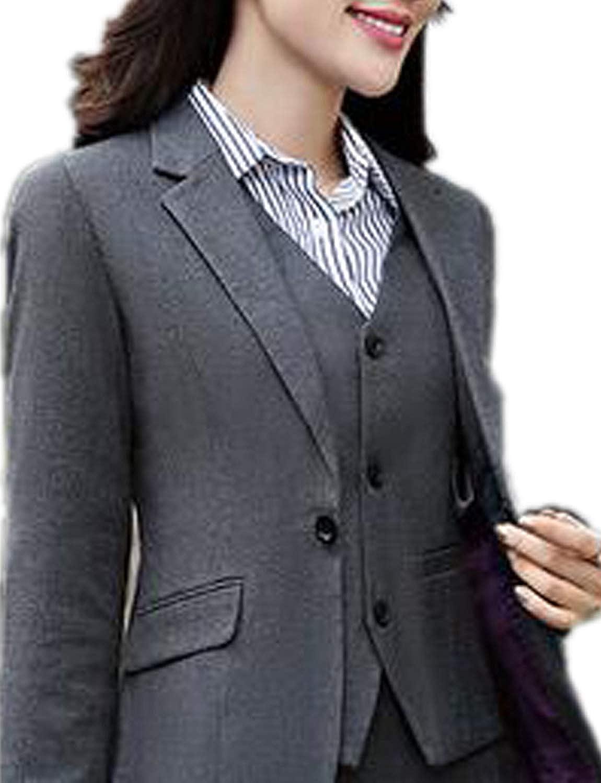 JYDress Women's 3 Piece Elegant Formal Business Lady Office Suit Set Work Wear WS18090401