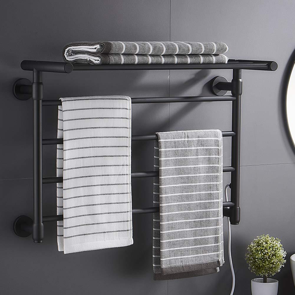 45w STBD Wall-Mounted Household Drying Rack Intelligent Constant Temperature Carbon Fiber Heating Towel Rack Bathroom Shelf Radiator Pendant Space Aluminum Electric Heated Towel Rail