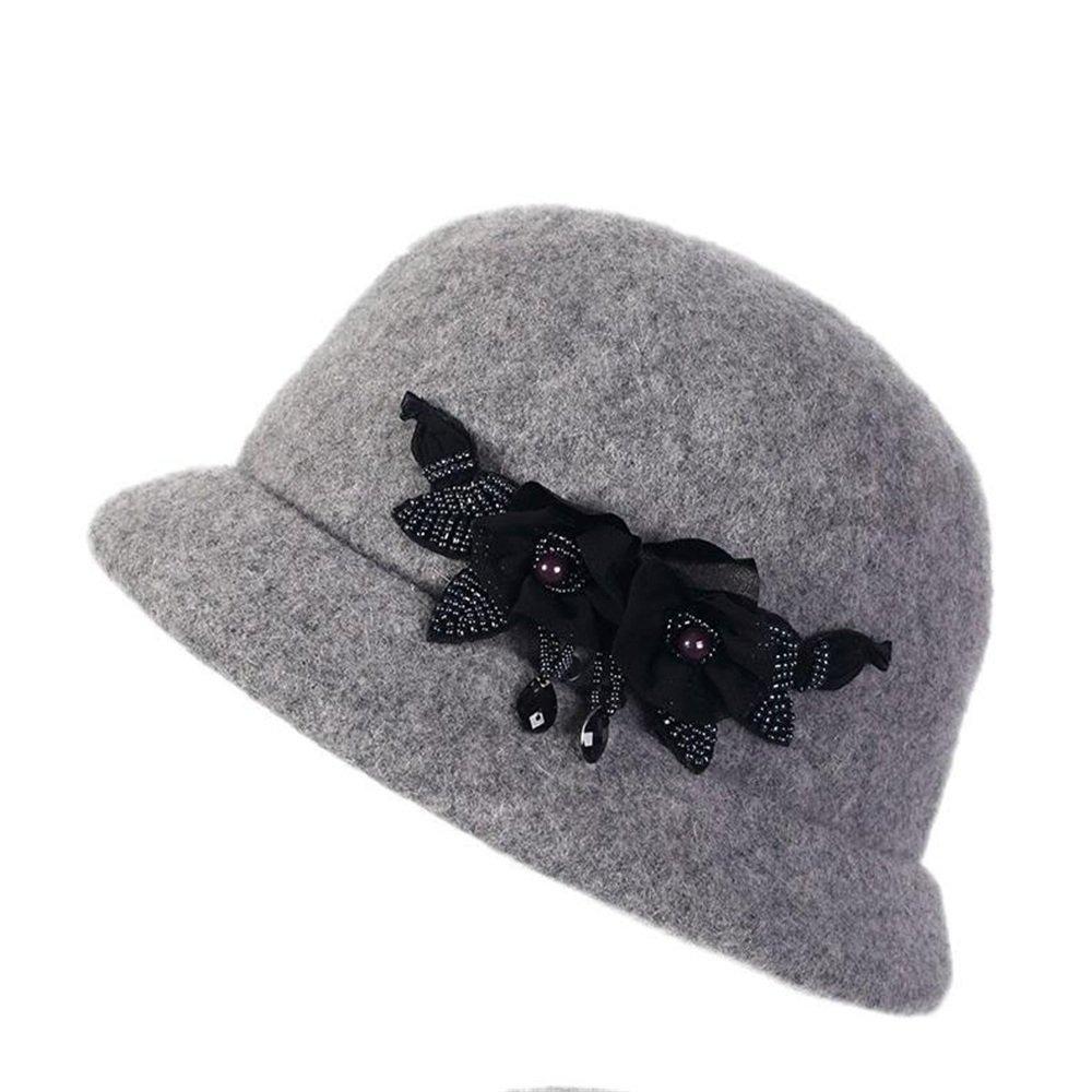 AJ E0 Sombrero de Lana Lady Autumn Winter Gray Hat Sombrero de Invierno  cálido.  Amazon.es  Deportes y aire libre eccbe1a0f68