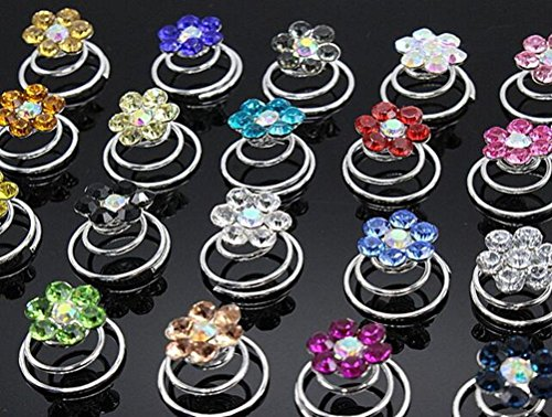 Price comparison product image Cuhair(tm) 10pcs Wedding Dinner Party Rhinestone Rose Crystal hairpin Women Girl Hair Clip Pin Claw Barrettes Accessories