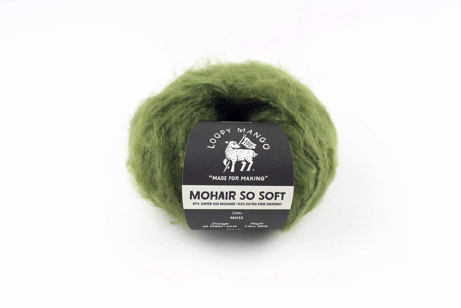 Loopy Mango DIY Knit Kit - Medium/Large Long Cardigan - Mohair So Soft (Moss) by Loopy Mango (Image #6)