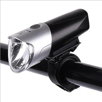 Luz USB recargable para bicicleta IPX5 resistente al agua 3 modos ...