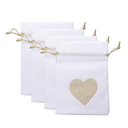 Amosfun - 12 bolsas de regalo con cordón, bolsitas para ...