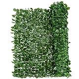 Giantex Artificial Hedges Faux Ivy Leaf Decorative Trellis Privacy Fence Screen Mesh (59''x95'')