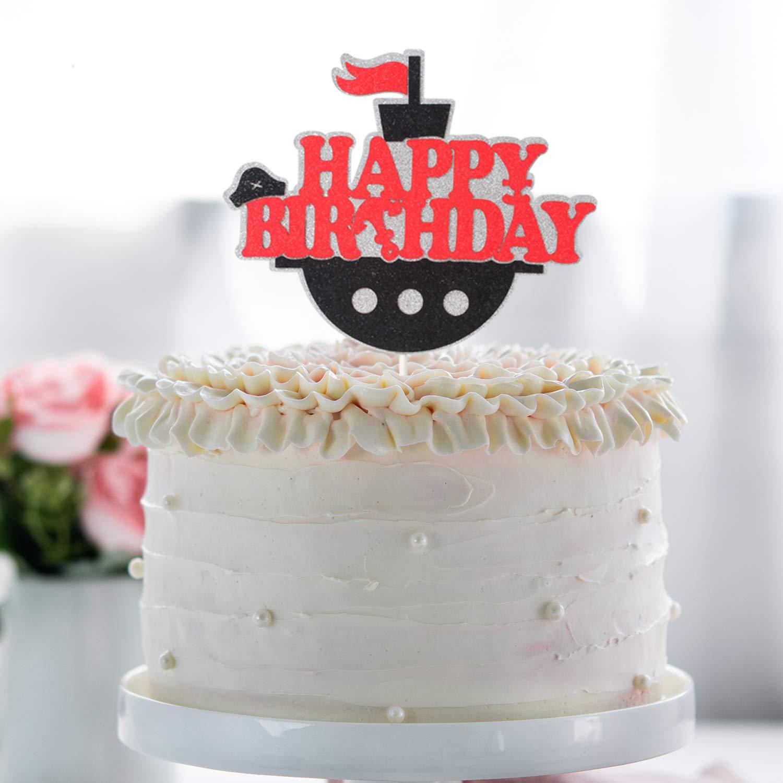 Awe Inspiring Pirate Ship Happy Birthaday Cake Topper Halloween Novelty Funny Birthday Cards Online Aeocydamsfinfo