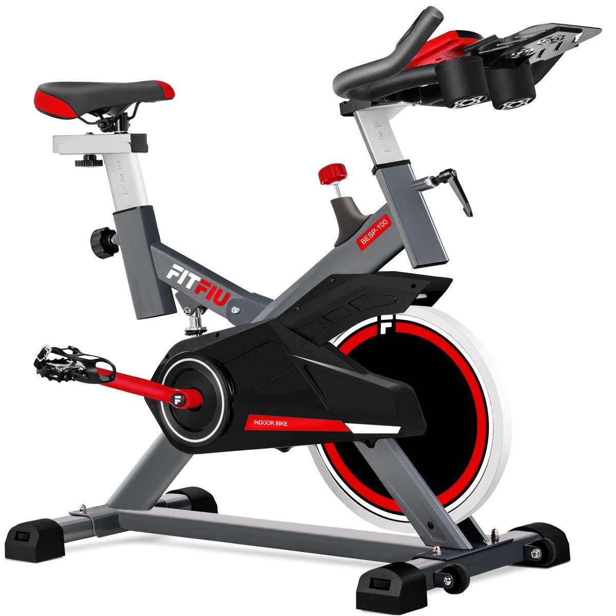 Fitfiu - BESP100 Silent+ Bicicleta spinning indoor con volante de ...