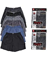 Power Club Mens 3-pack Plaid Boxer Shorts Polyester Cotton Blend Assorted Colors.